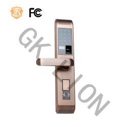 Red de seguridad de acero inoxidable de bronce de huella digital Smart Electric Panel de bloqueo de puertas artesanales largo