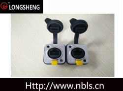 Conector de salida Impermeable IP65 CAT6 recta y Right-Angle toma