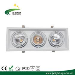 L'intérieur carré haute puissance AC85-256V 3*10W COB dirigée vers le bas la lumière de la calandre
