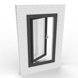 Настраиваемые двойные стекла на алюминиевых замена дверная рама перемещена Windows с помощью противомоскитные сетки