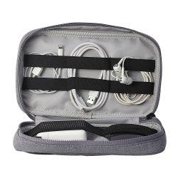 コンパクトな旅行ケーブルのオルガナイザーのMacBookのアダプターさまざまなUSBの電話充電器の灰色のための携帯用電子工学のアクセサリ袋のハード・ドライブのケース