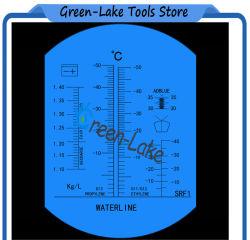 Réfractomètre antigel avec échelle d'Adblue pour liquide de batterie de voiture réfractomètre l'éthylène glycol de propylène glycol