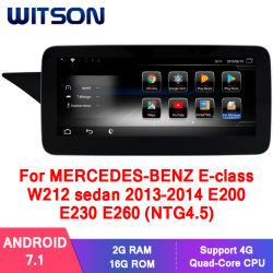 Witson Android 7.1 de navegación GPS de coche para el Mercedes-Benz Clase E Sedán 2013-2014 W212 E200 E230 E260 (NTG4.5) 2g 16g Multimedia GPS