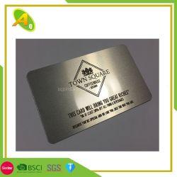 Precision Metal de aluminio blanco tarjeta Tarjeta de visita Tarjetas de metal grabado/Tarjeta de presentación de metal especial (04)