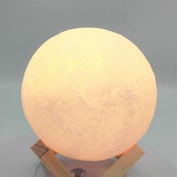 2019 Nouveau produit cadeau décoratif rechargeable Lampe Moon 3D pour la chambre