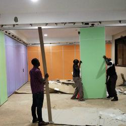 이동식 벽 트랙 음향 방음 슬라이딩 파티션 벽 시스템 아트 갤러리