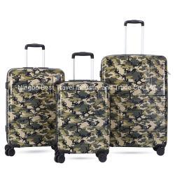 3 ПК Tsa блокировки компьютера АБС печати поездки чемодан Cameflage Напечатайте тележка со стороны дела