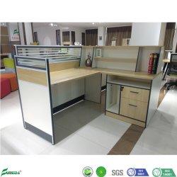 Nuevo diseño en forma de L La altura máxima de recepción de estaciones de trabajo de oficina portátil