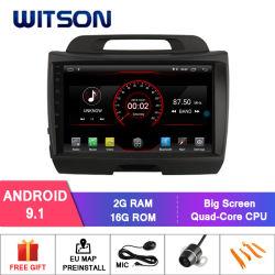 """Grand écran 9"""" Witson Android 9.1 voiture DVD pour Kia Sportage (haute avec 2.4L)"""