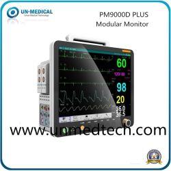 جهاز مراقبة المريض من خلال وحدات مستقلة مزود بشبكة لاسلكية وشبكة سلكية