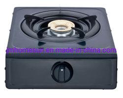 Heißes verkaufenEdelstahl-Aluminium Burner Schwarze Beschichtung-Karosserie einzelnes Burner Feld: HS-103b Gas-Ofen