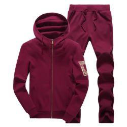 Hombre de cuerpo delgado colocar el algodón 95% Lycra 5% de la cremallera hasta la ejecución de suéter de chándal Decodificador y pantalones
