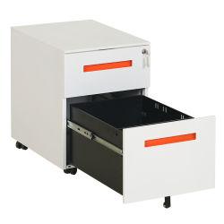 En vertu de socle Mobile Office Bureau de la pendaison en métal 2 tiroirs armoire de fichier de stockage avec des roues