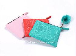 Цветные женщины кожаное портмоне, маленький кожаный кошелек монет для рекламных