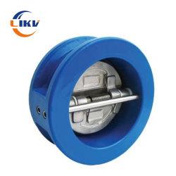 Pn16 verdoppeln duktiles Eisen Ggg50/Ggg40 Platten-Oblate-Abwasser-Rückschlagventil