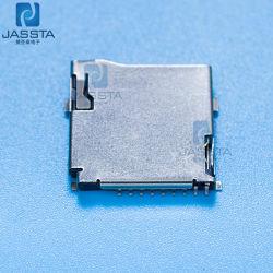 Empuje el conector de 6 clavijas de la tarjeta SIM tipo concha