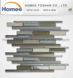 Novo design do painel contra salpicos Professional faixa cinzenta mosaico mosaico de pedra de vidro