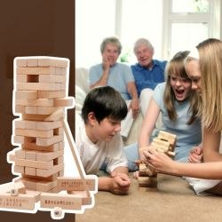 In Legno Kids Educational Stacking Tower Building Blocchi Family Party Gioco