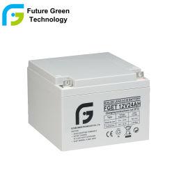 12V 24Ah AGM de ciclo profundo de gel de plomo-ácido de batería de almacenamiento de UPS