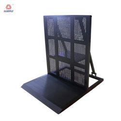 Barrière en aluminium stable avec une pente de foule