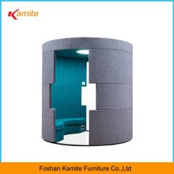 Sofa des moderner Entwurfs-Multifunktionsvermittlungs-Gewebe-LED für Büro-Gebrauch