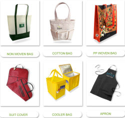 PP baratos promocionales no tejido Bolsa de compras de supermercado/Tote Shopper lienzo de algodón/poliéster cordón mochila/Nylon bolsa de polvo/Traje de confección de la bolsa de cubierta