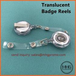 La Insignia translúcidas de los tambores con correa de vinilo transparente