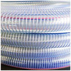 PVC 플라스틱 나선형 철강선 강화된 유연한 배수관 또는 호스