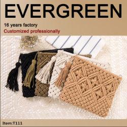 Späteste Entwurfs-Handtasche-Baumwollgewebe-materielle Mappen-handgemachte Entwurfs-Fonds-Stickerei-Abend-Beutel-Form-Handtasche mit Großhandelspreis T111