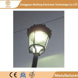 알루미늄 합금 앙티크 유리제 램프 폴란드 정착물을%s 가진 적당한 정원 가로등 온난한 백색 LED 포스트 빛