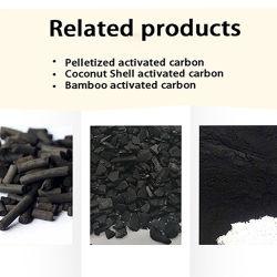 Commerce de gros de formule chimique du carbone activé prix du charbon de bois de noix de coco pour Gold Mining