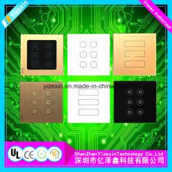 Grabar el interruptor de membrana táctil del botón con el recubrimiento gráfico