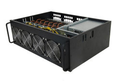 Antminer D3 L3+ S9 A6 A4+ M3 E9+ 741 Asic MinerのためのCPUの箱PSUが付いている8 GPU鉱山のパソコンのマザーボードBtc 740人のEth等の中佐