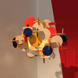 Décoration moderne en bois coloré Lighitng DIY Salle de lampe de la poignée de commande