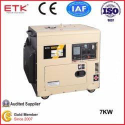 7Квт Электрический пуск портативный Silent тип дизельного генератора,