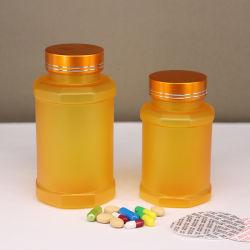 Hexagonal de la medicina de plástico PET botella para el embalaje de la cápsula