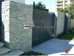 Wood Yellow Quartzite / Slate Culture Stone pour mur