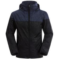 Les hommes est léger contraste des couleurs Outwear Packable Sport Hooded Jacket