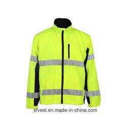 Usura 2020 di sicurezza con la maglietta felpata impermeabile del rivestimento