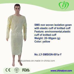 O SMS não tecidos Hospital estéreis descartáveis vestido de isolamento