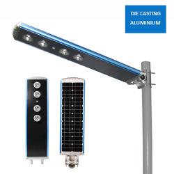 60W IP65 étanche extérieur LED du capteur de mouvement tout en un réverbère solaire intégré