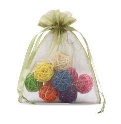 L'Organza transparente des sacs-cadeaux personnalisés ruban de satin de gros sac avec lacet de serrage pour l'Emballage de cadeau de vacances