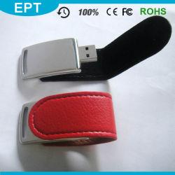 빨간 가죽 팝업은 돋을새김한다 로고 USB 섬광 드라이브 (TL019)를