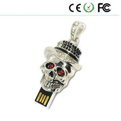 Memoria cranica del bastone di Pendrive dell'azionamento dell'istantaneo del USB della testa della persona di terrore