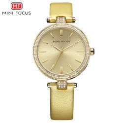 Fabricados en China Dial de oro de señora reloj con precios baratos