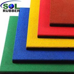 Mattonelle di gomma della stuoia del pavimento di anti colore luminoso esterno statico