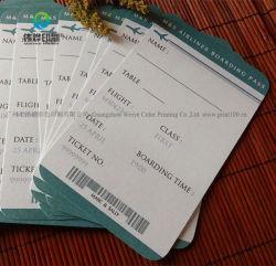 Stampa di carta personalizzata del biglietto di ammissione di stampa