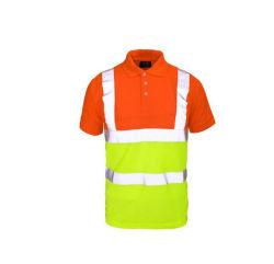 남성용 Hi Vis Safety Polo 셔츠 OEM Workwear 셔츠