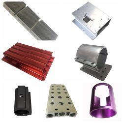 precio de fábrica personalizada de extrusión de aluminio anodizado de color rojo con el perfil de mecanizado CNC