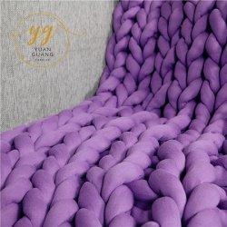 Couverture Chunky bras tube de coton de tricotage de tissu avec fibres creuses fils épais de remplissage
